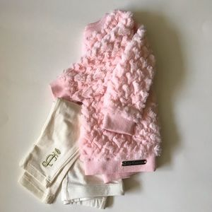 NWT Juicy Couture Baby Girl Sweater & Pants Set